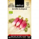 Semillas ecológicas de  Rabanito medio largo rojo punta blanca