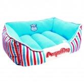 Couchage pour chiens Arquidog rouge et bleu