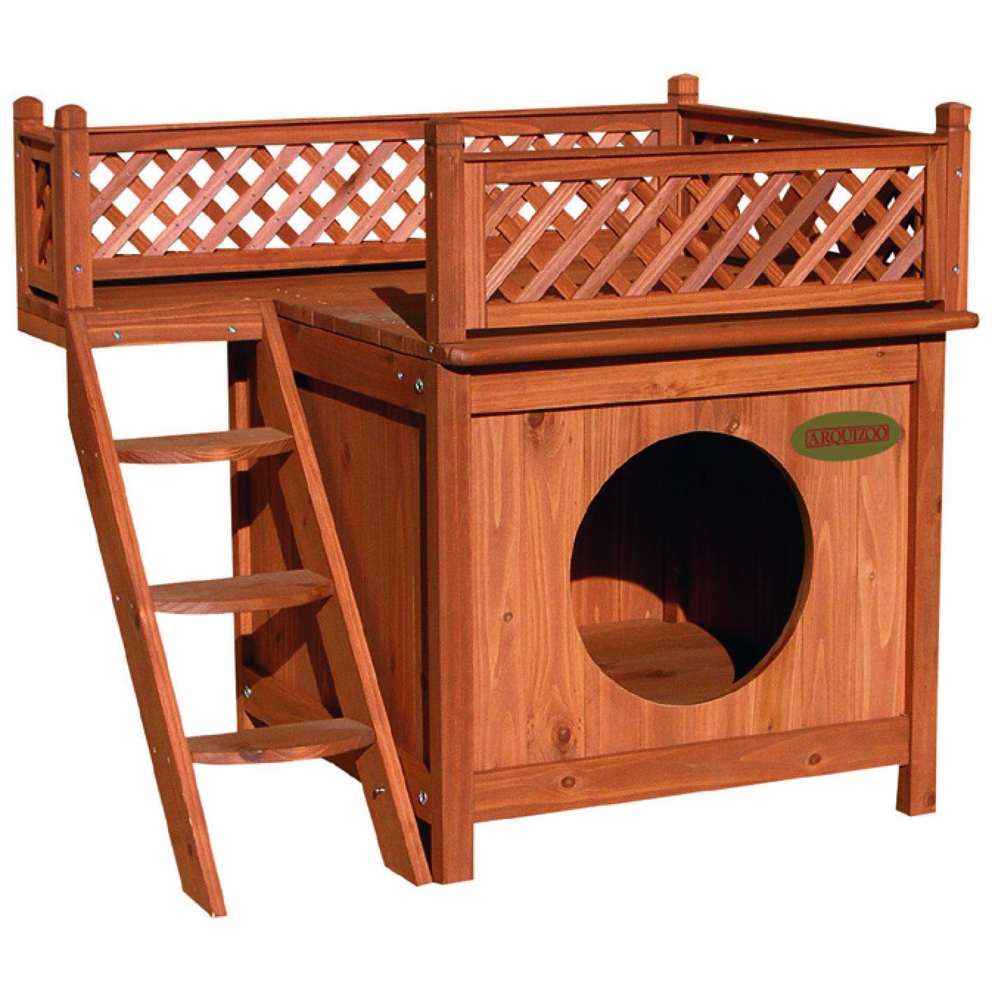 Caseta madera perro gato roedores por 91 55 en planeta huerto for Casetas de huerto