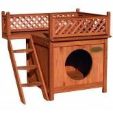Casa de madeira cachorro/gato/roedores