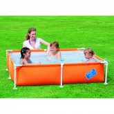 Piscina bimbi My First Frame arancione media 163 x 163 x 35,5