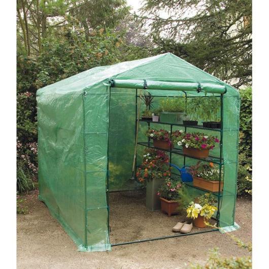 Serre de jardin avec 6 étagères