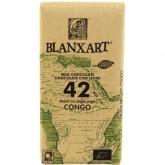 Chocolate com leite Congo 42% Blanxart, 125 g