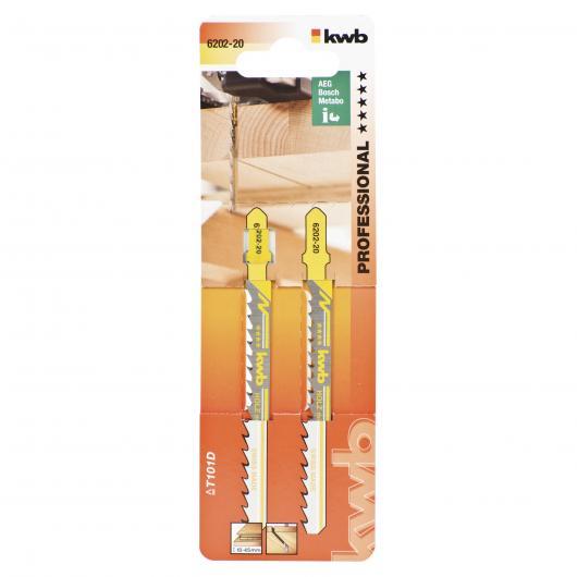Due lame per serra da traforo per legno 100/75 KWB PRO