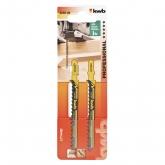 Due lame per sega da traforo per legno 100/75 taglio spesso KWB PRO