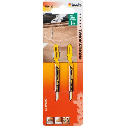 Due lame per sega da traforo per legno 77/50 taglio curvo KWB PRO