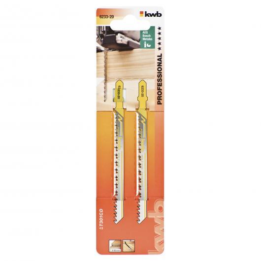 Due lame per sega da traforo per legno 116/93 taglio spesso/largo KWB