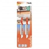 Duas lâminas de serra tico-tico para metal 76 corte médio KWB HQ
