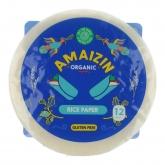 Papel de arroz para rolos Amaizin, 12 tortilhas