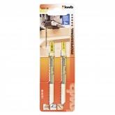 Duas lâmias de serra de calar para madeira 100/80 corte fino KWB PRO