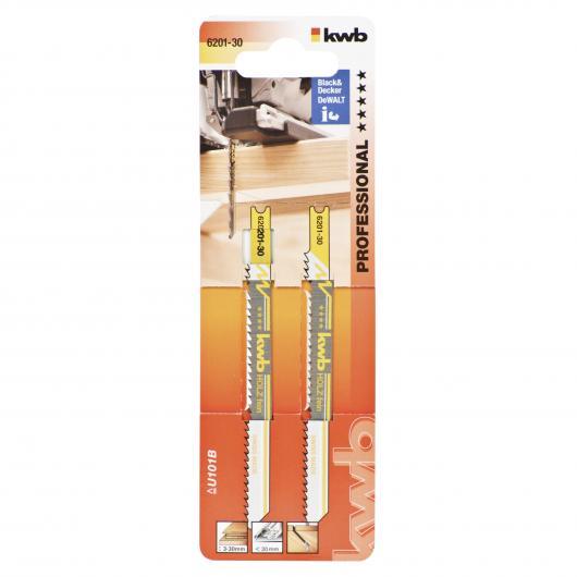 Due lame per sega da traforo per legno 100/80 taglio fine KWB PRO