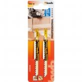 2 lâminas de serra de calar para madeira 100/80 corte médio KWB PRO