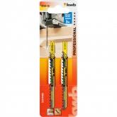 Due lame per sega da traforo per legno 100/80 taglio spesso KWB PRO