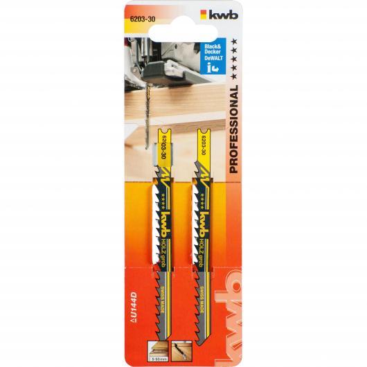 Dos hojas de sierra de calar para madera 100/80 corte grueso KWB PRO