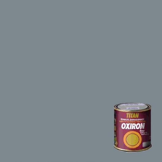 Peinture antioxydante lisse brillant pour métal Titan Oxiron GRIS PERLE 750 ml