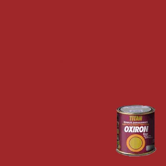 Peinture antioxydante lisse brillant pour métal Titan Oxiron ROUGE 750 ml