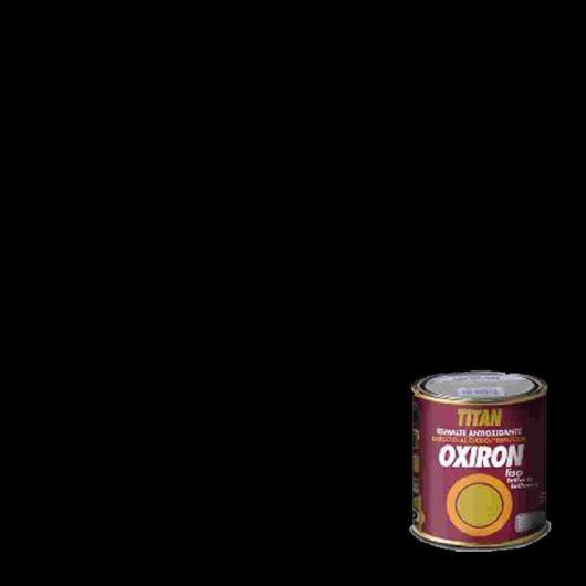 Smalto antiossidante liscio brillante per metallo Titan Oxiron NERO