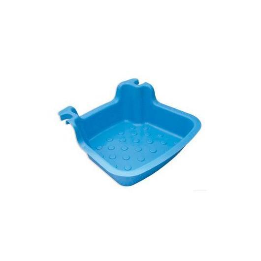Lavapiés para escalera piscina, azul claro