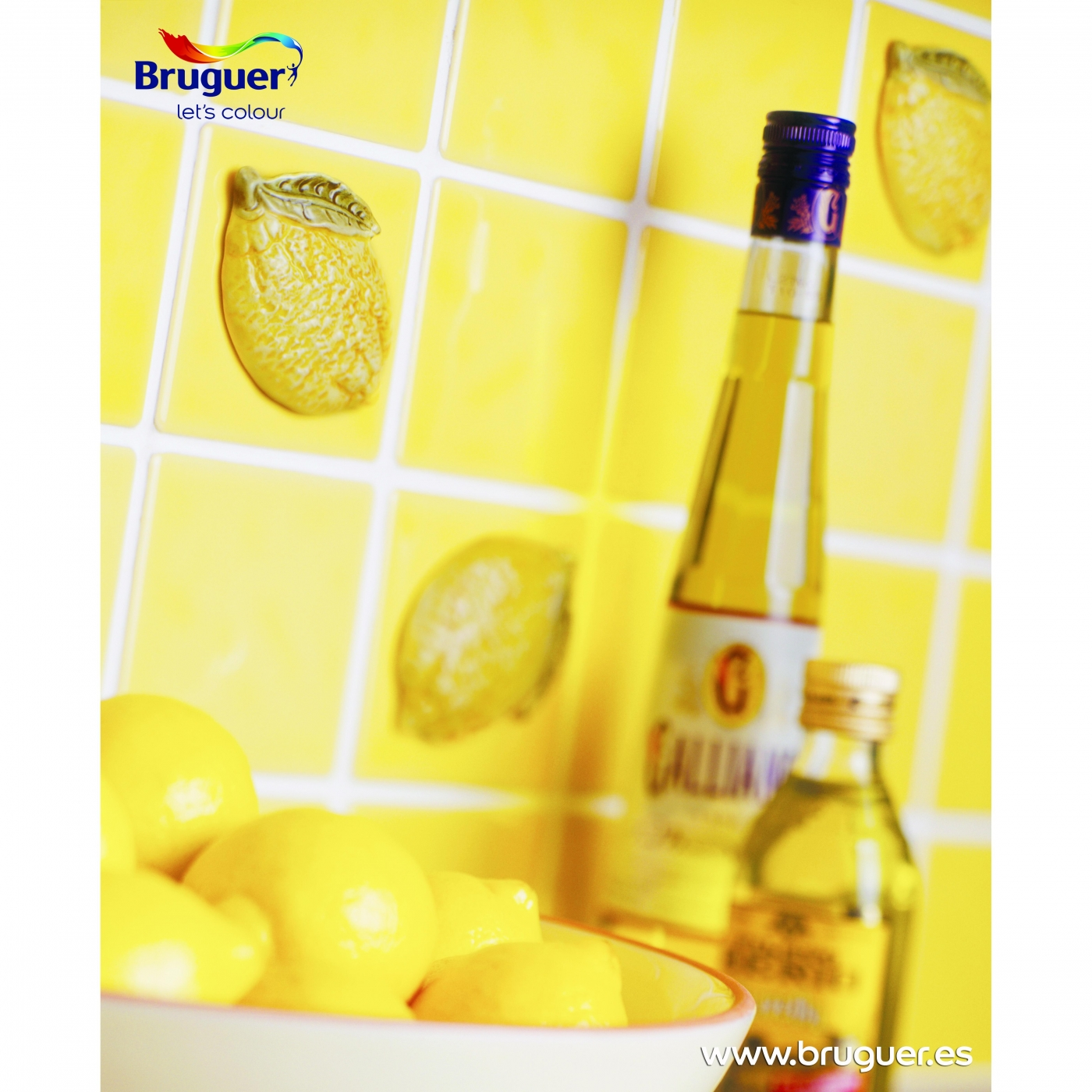 Esmalte para azulejos brillante ocre tostado bruguer 750 ml por 20 49 en planeta huerto - Esmaltes para azulejos ...