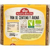 Pão de centeio e aveia Natursoy, 300 g