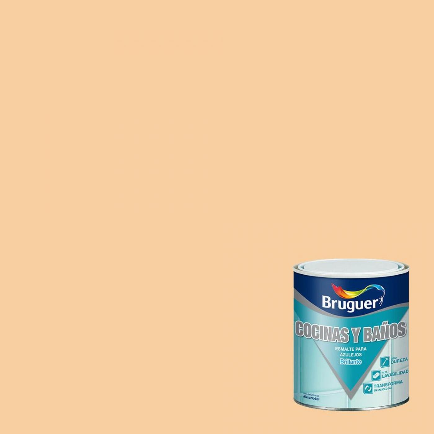 Peinture brillant pour azulejos orange aurore bruguer 750 for Peintures ripolin avis