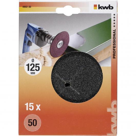 15 disques abrasifs pour perceuse Ø 125 mm KWB