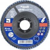 Disco di lamina abrasiva per metallo per smerigliatrtice ø 115 x 22 mm GR 36 KWB CUT-FIX