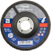 Disco de láminas abrasivas para metal para amoladora ø 115 x 22 mm GR 80 KWB CUT-FIX