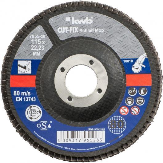 Disco di lamina abrasiva per metallo per smerigliatrtice ø 115 x 22 mm GR 80 KWB CUT-FIX