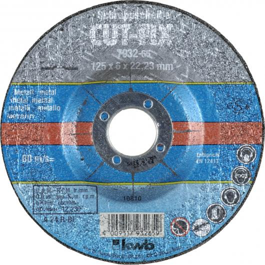 Disco levigatrice per smerigliatrice extra fine per metalli ø 125 x 22 mm KWB