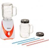 Liquidificador com 2 jarras de cristal + 4 palhinhas Tristar 4456
