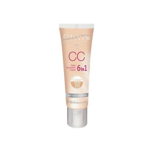 Maquillaje CC Cream 6 en 1 natural Sante 30ml