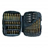 Kit de 50 piezas para taladrar y atornillar TITANIUM Black & Decker