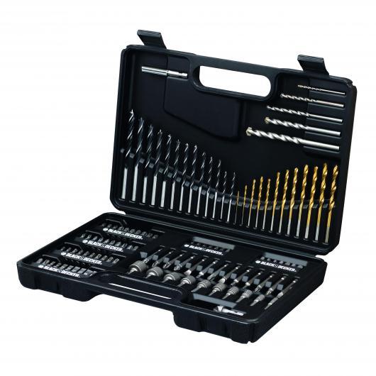 Kit de 109 piezas para taladrar y atornillar TITANIUM Black & Decker