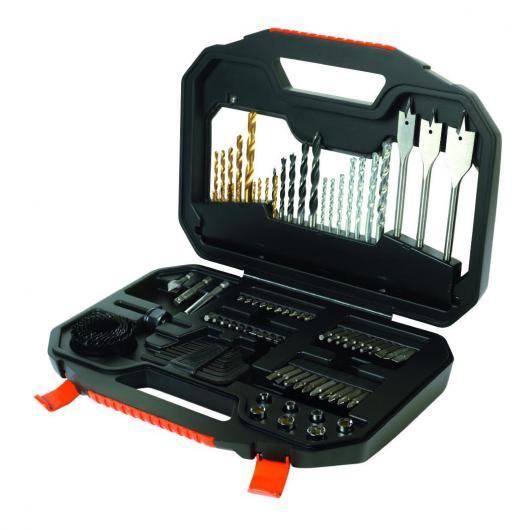 Kit de 100 piezas para taladrar y atornillar TITANIUM Black & Decker