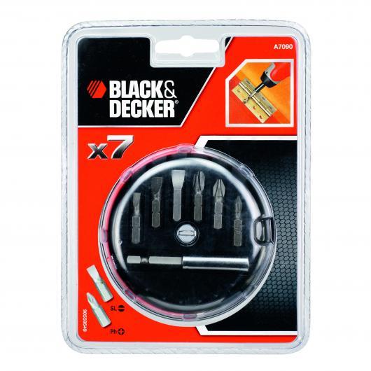 Kit de 7 piezas para atornillar Black & Decker