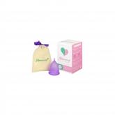 Copo menstrual lilás S e L da Mimacup