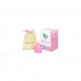 Copo menstrual rosa S e L da Mimacup