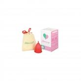 Copo menstrual vermelho S e L da Mimacup