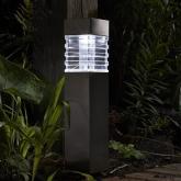 Farol solar LED Modelo Vega Aço Inox