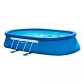 Piscina Intex oval desmontável - Oval Frame - 610x366x122 cm - 16.628 litros