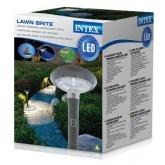 lâmpada led com painel solar, 20x20x76 cm, Intex