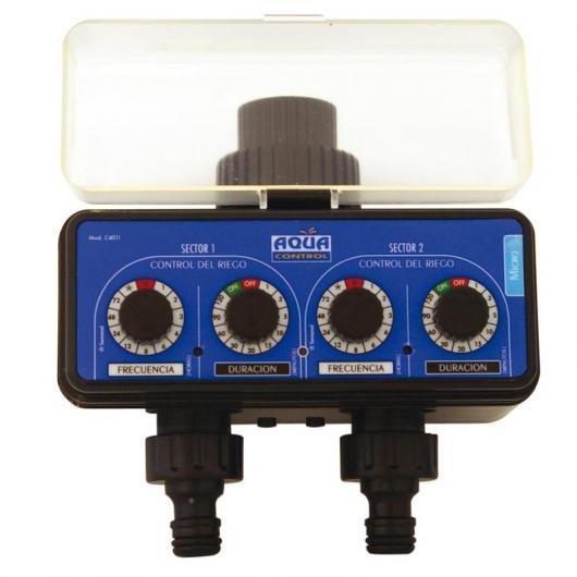 Programador de riego doble salida aquacontrol por 39 95 - Programador para riego por goteo ...