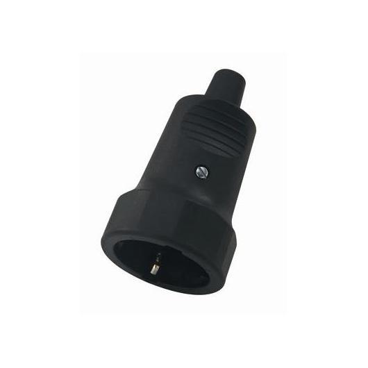 Base enchufe aérea goma Negro T/T lateral Duolec