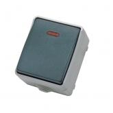 Pulsante campanello da giardino custodia impermeabile Grigio IP44 Duolec