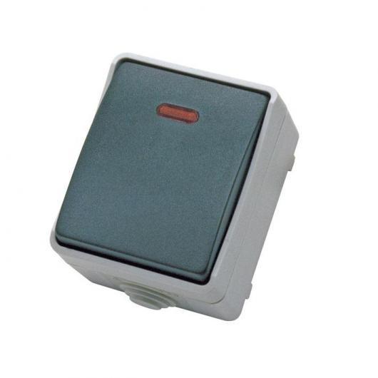 Pulsador timbre de jardín caja estanca Gris IP44 Duolec