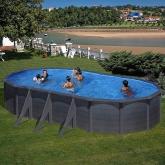 Série de piscinas Kea Oval 730 x 375 x 120 cm com postes laterais Gre