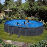 Série de piscinas Kea Oval 500 x 300 x 120 cm com postes laterais Gre