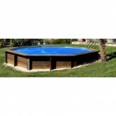 Capa para piscina oval Vermela com sistema suspenso