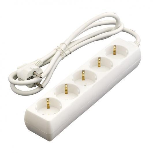 Base presa multipla con interruttore 6 prese T/T 1,5m Duolec